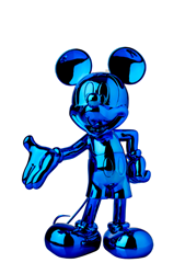 Mickey Welcome Chromed Blue by Leblon Delienne - Limited Edition Sculpture sized 15x24 inches. Available from Whitewall Galleries