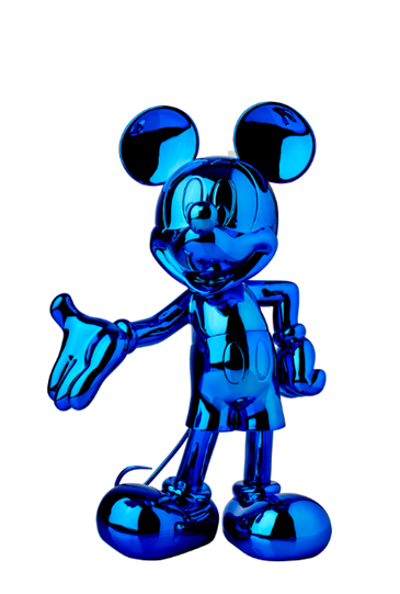 Mickey Welcome Chromed Blue by Leblon Delienne - Limited Edition Sculpture